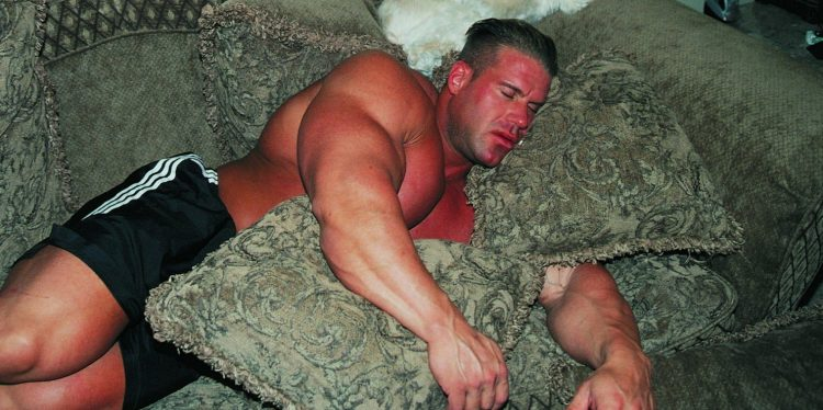 Bodybuilder Jay Cutler Sleeping