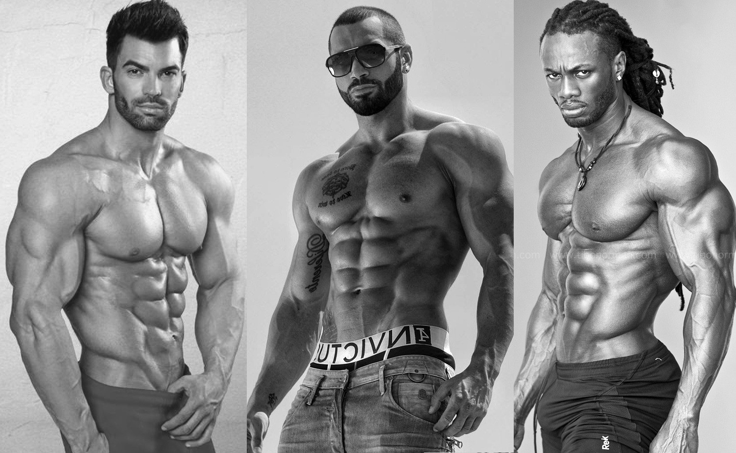 Bodybuilder men muscle models