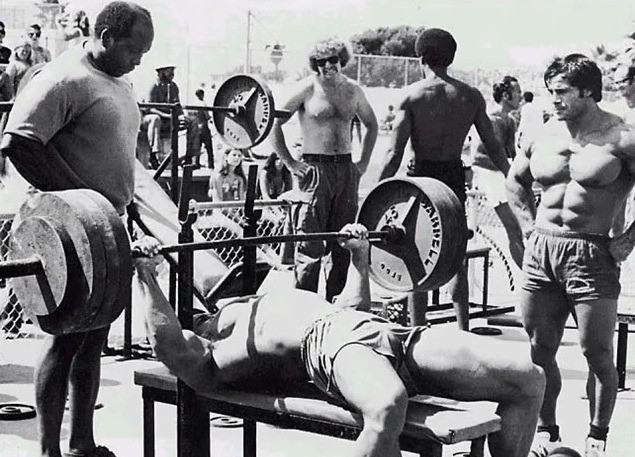 arnold-bench-presses