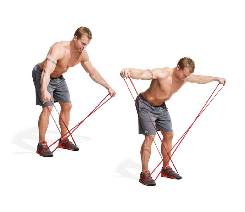 Band Bent-Over Lateral Raise