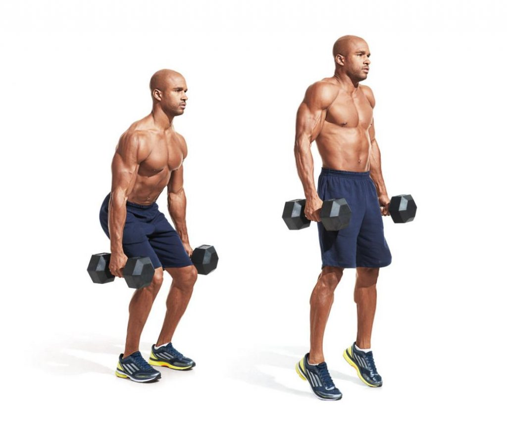 Dumbbell Deadlift/Shrug Combo