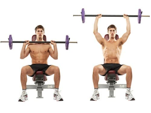 Shoulder Seated Barbell Press