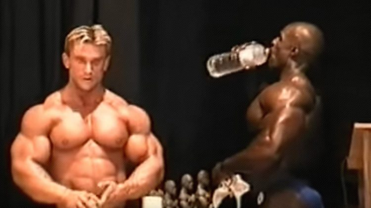 Lee Priest and Ronnie Coleman