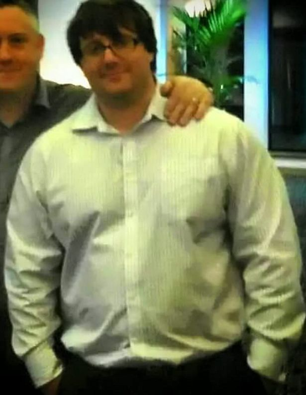 Alastair Wilson when he was obese before his transformation
