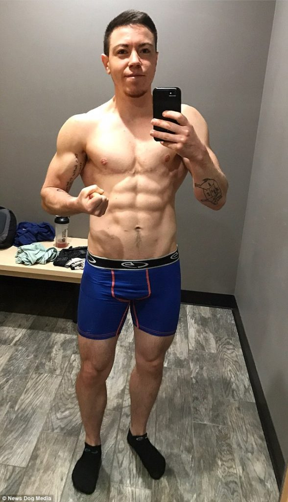 Cody was a size 6 as a woman, but after he began the transition process he took up Crossfit in a bid to become a rippling hunk.