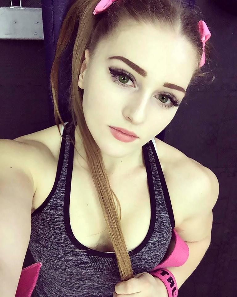Now 20, the Russian weight-lifter began training when she was just 15-years-old