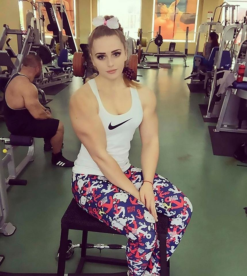 Musclebound Julia Vins, 20, can deadlift 180kg without breaking a sweat