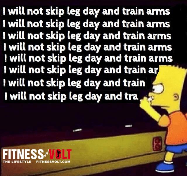 Punishment for skipping leg day #Bodybuilding – Fitness ...