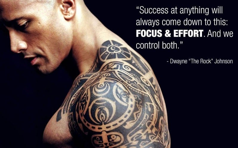 Success at anything will always come down to this: focus and effort. And we control both.