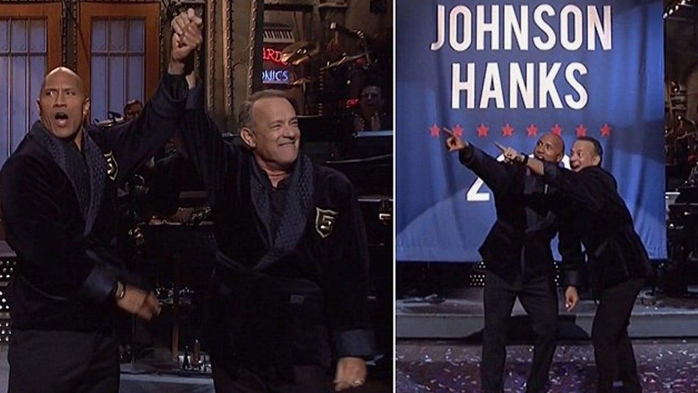 Dwayne The Rock Johnson Tom Hanks Partner For 2020