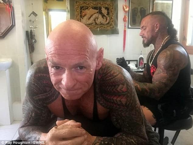 """e873c038a Ray said he was young and impressionable when he got my first tattoos and  was embarrassed by them as soon as he left the Army. """""""