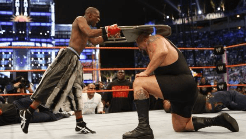 The fight was allegedly over Mayweather stealing Big Show's shorts…