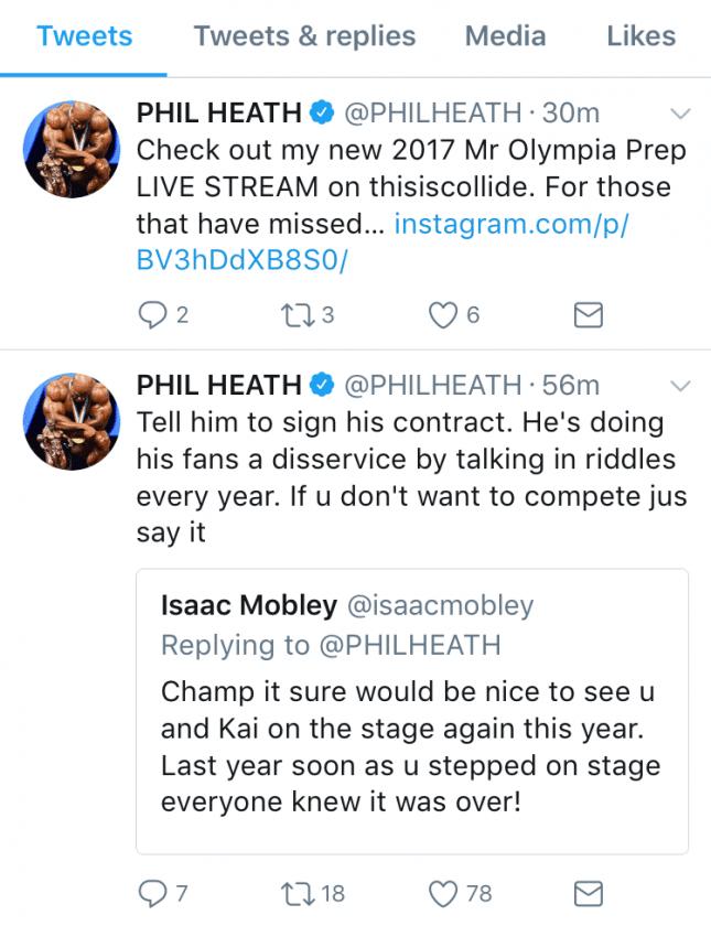 Phil Heath Calls Out Kai Greene