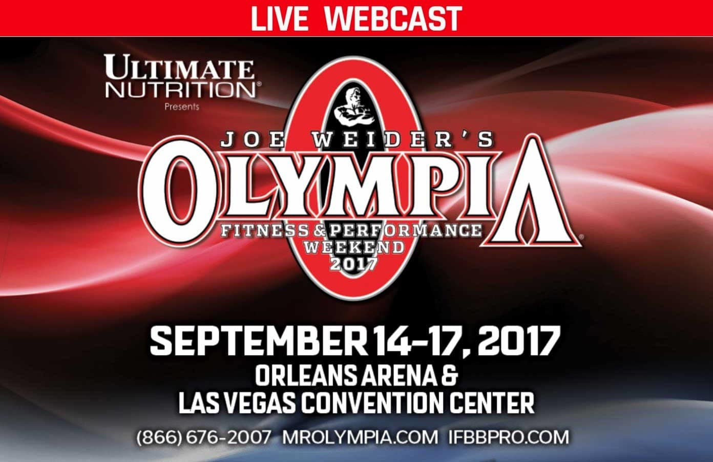 Watch the LIVE 2017 Mr. Olympia Webcast