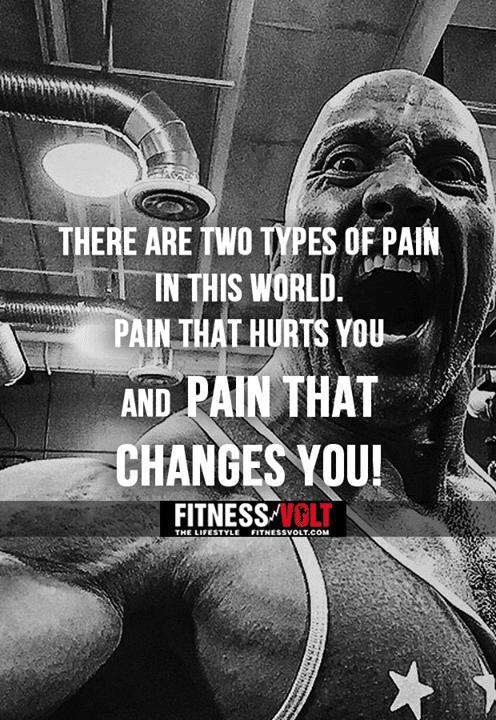 There Are Two Types Of Pain In The World. Pain That Hurts You And Pain That  Changes You! #FitnessVolt #Bodybuilding #Motivation #DailyQuote