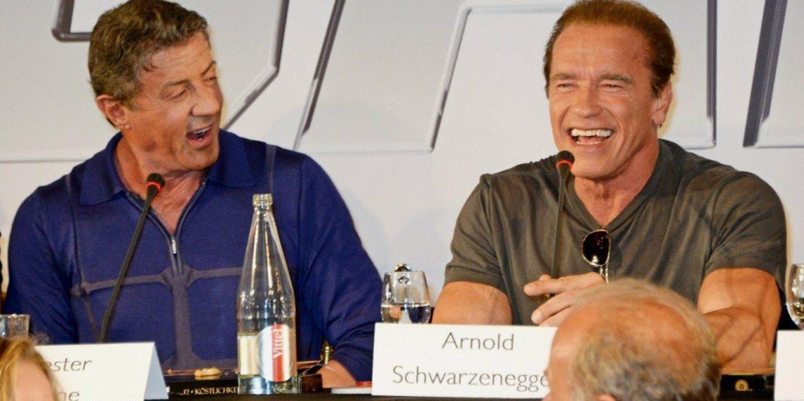 How Arnold Schwarzenegger Tricked Sylvester Stallone Into ...  How Arnold Schw...