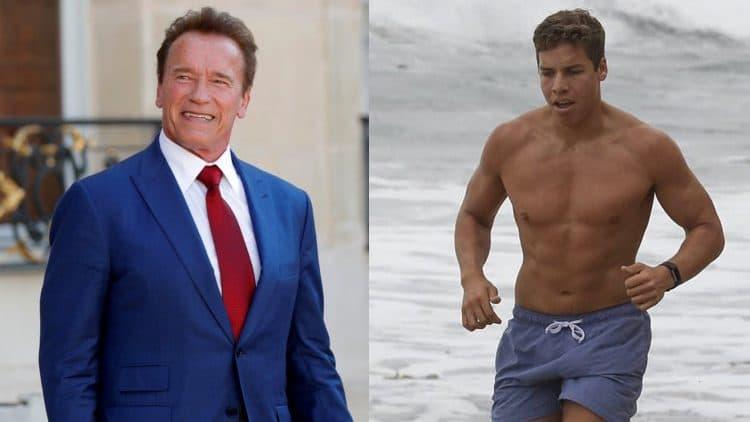 Arnold Schwarzenegger With Son Joseph Baena