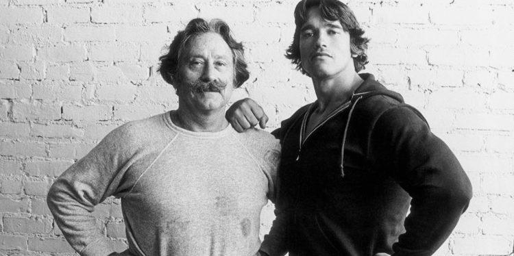 Joe Weider and Arnold Schwarzenegger