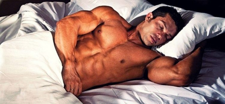 bodybuilder sleep