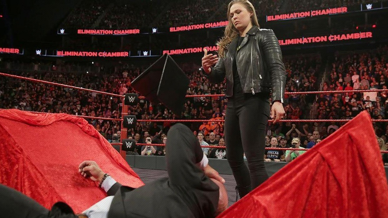 Ronda Rousey Puts Her Boss Triple H Through Table On The