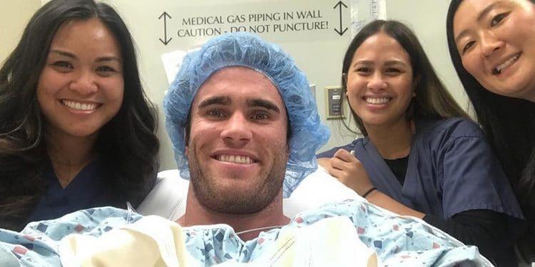 Calum von Moger in Surgery
