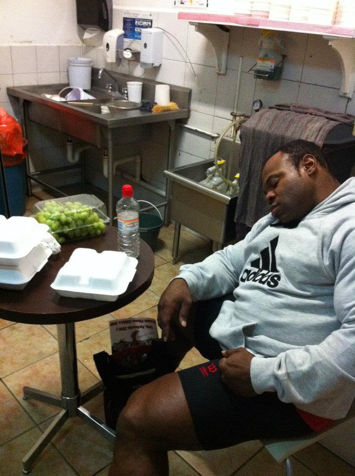 Kai Greene sleeping