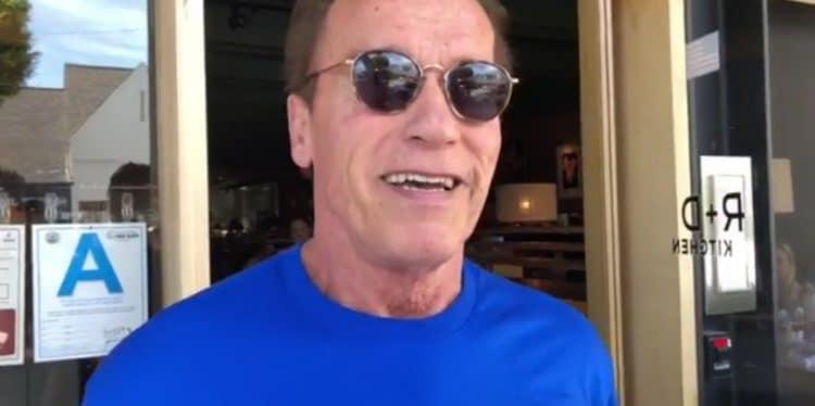 Schwarzenegger after surgery