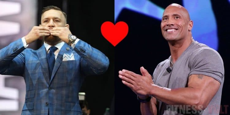 The Rock and Conor McGregor