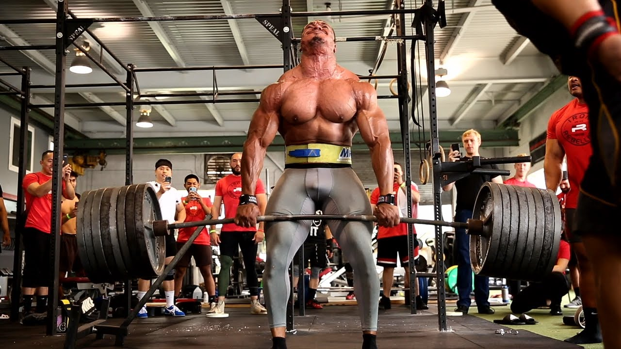 watch  larry wheels bleeds while deadlifting 765lbs insane