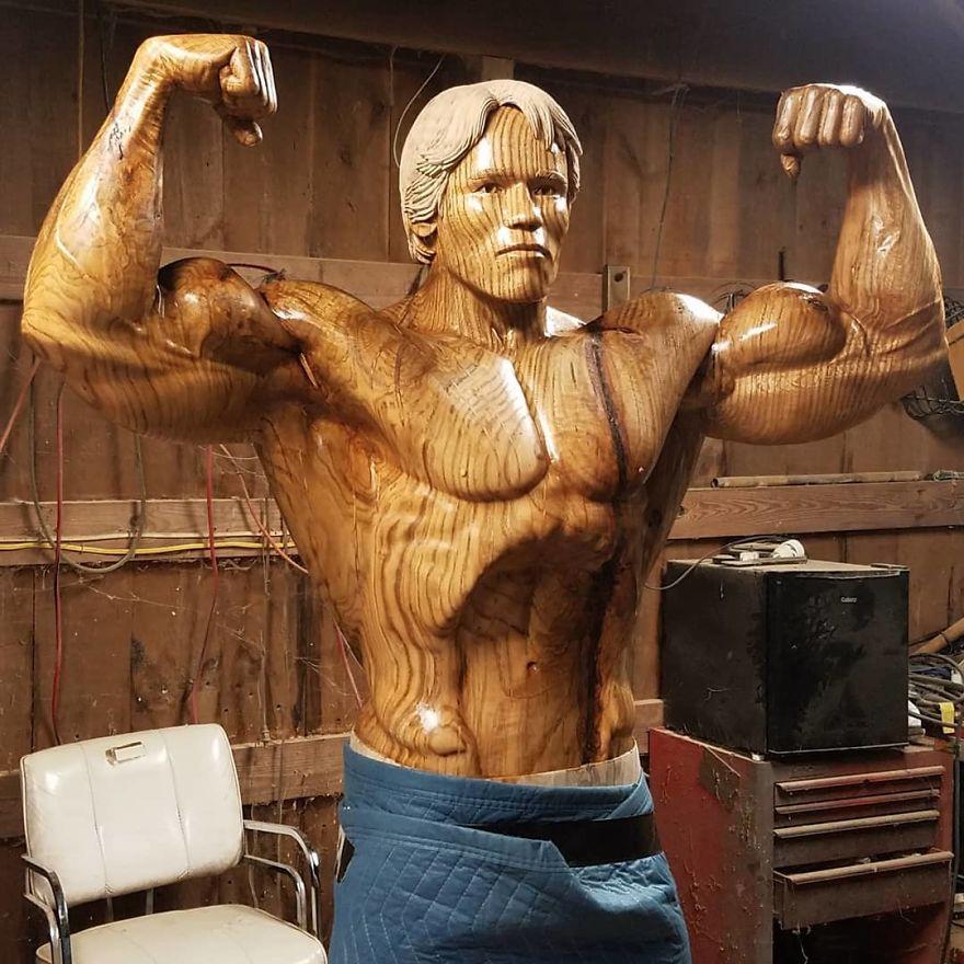 Arnold Schwarzenegger's Absolutely Amazing Wooden ...