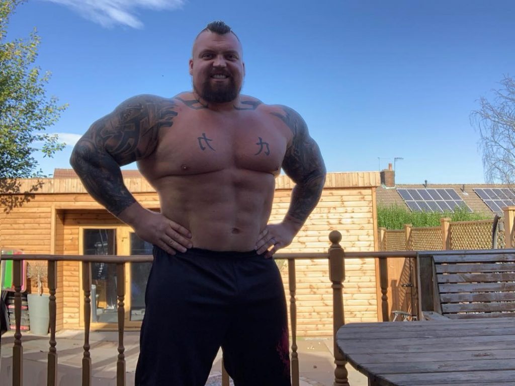 Eddie Hall looks ripped after his transformation (Image: Instagram)