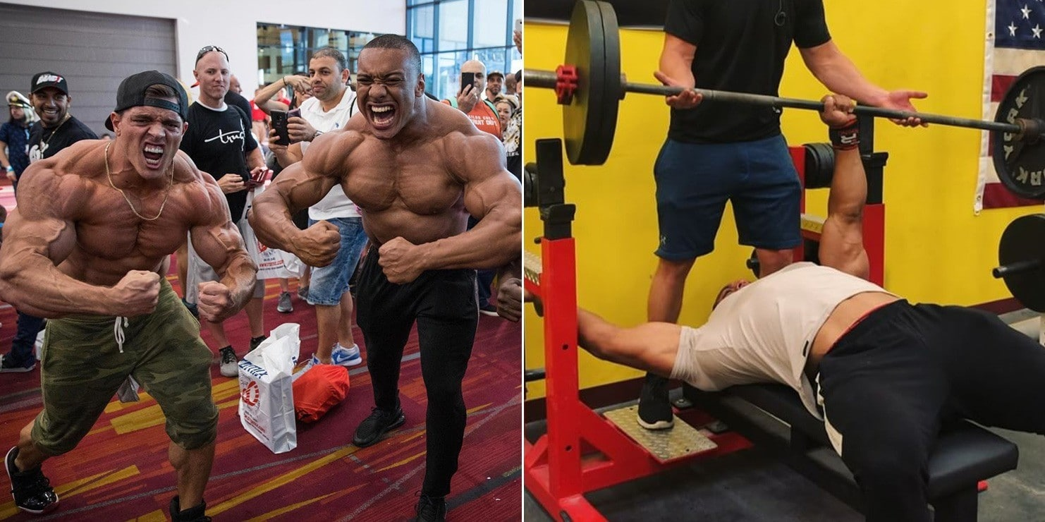 Watch The Crazy Strong Larry Wheels Bench 225lbs With One