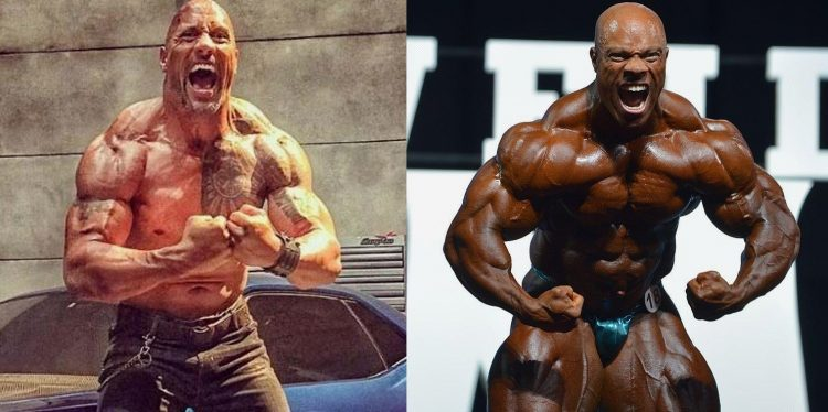 The Rock and Phil Heath