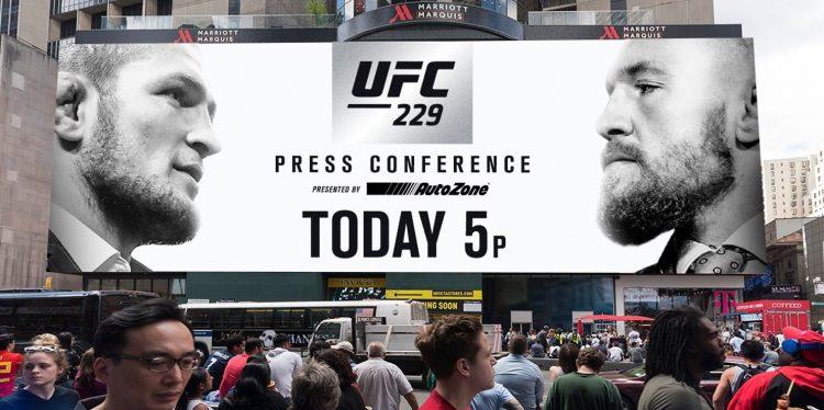 UFC 229 Khabib Nurmagomedov vs. Conor McGregor New York Press Conference Live Stream