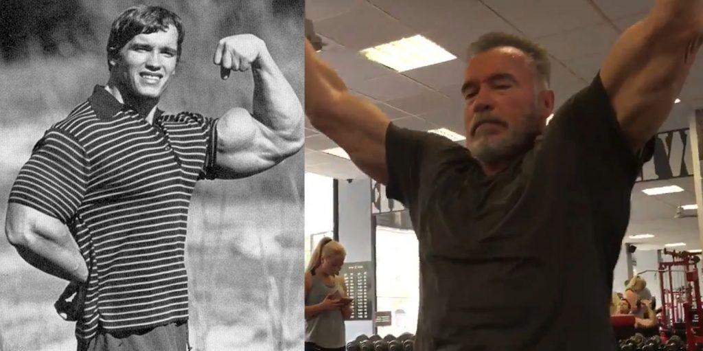 Arnold Schwarzenegger Does Lat Pulldowns