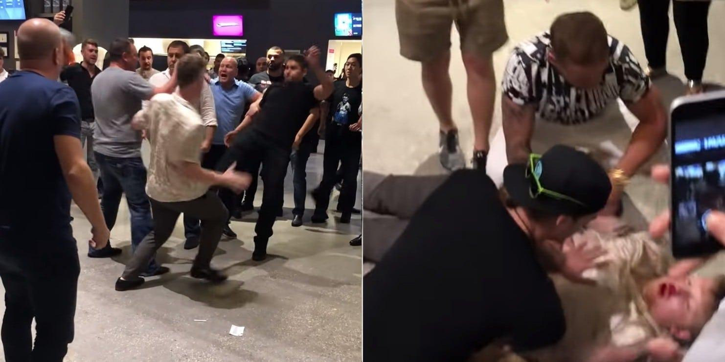 სრული სიგიჟე! - კონორისა და ხაბიბის გულშემატკივრებმა ერთმანეთი არ დაინდეს (ვიდეო)