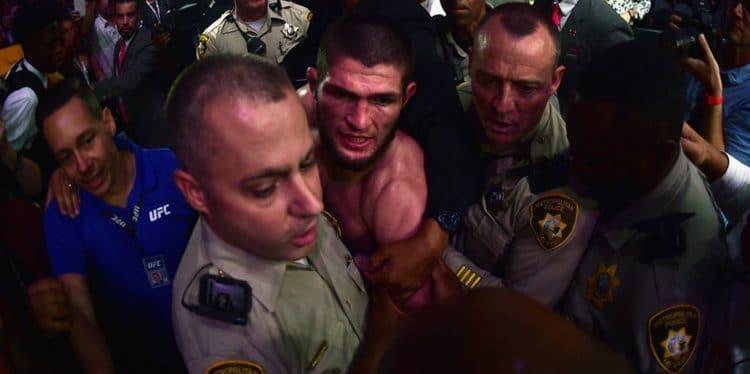 Khabib vs Conor post-fight brawl!