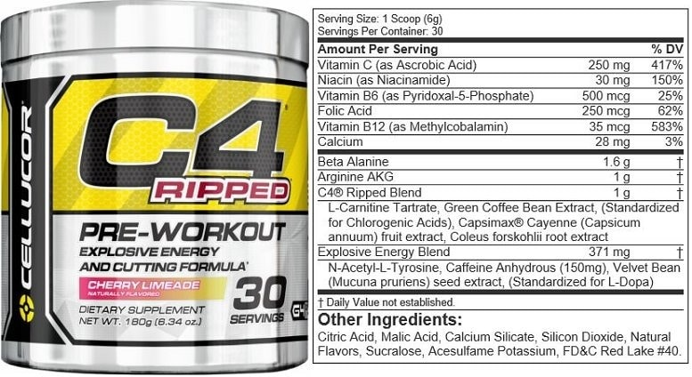 Image result for cellucor c4 pre workout ripped