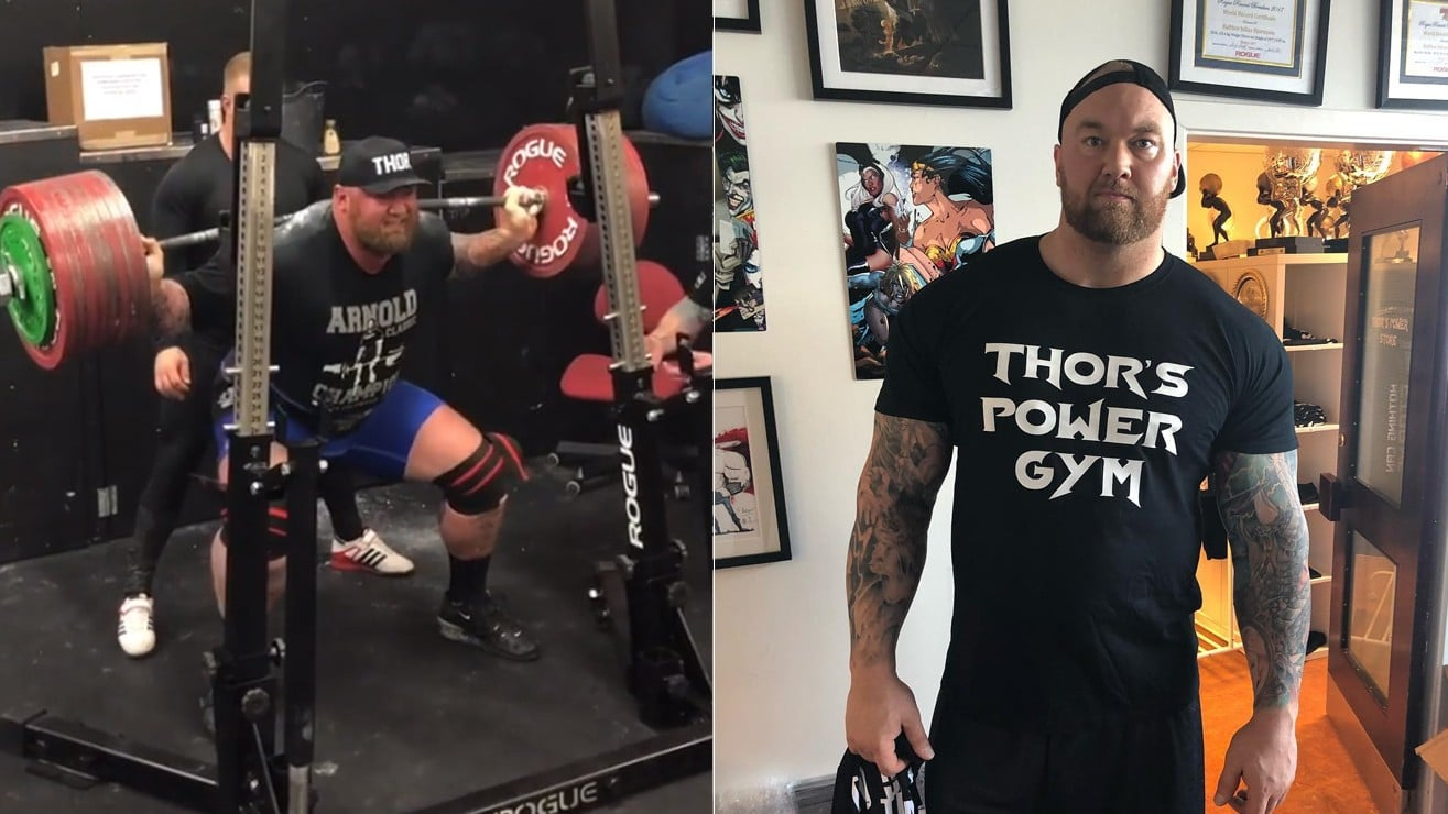 hafthor bjornsson breaks a personal record with an insane 980 pound squat  u2013 fitness volt