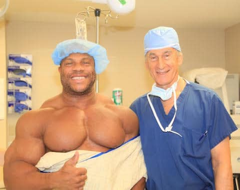 Phil Heath with doctor