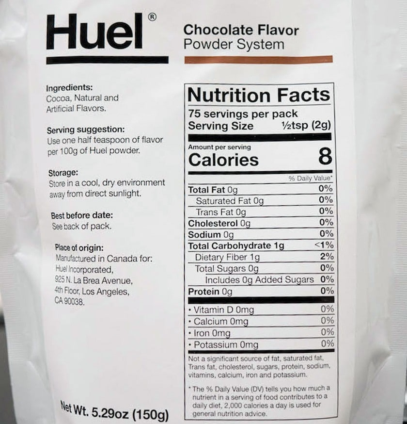 Huel Ingredients