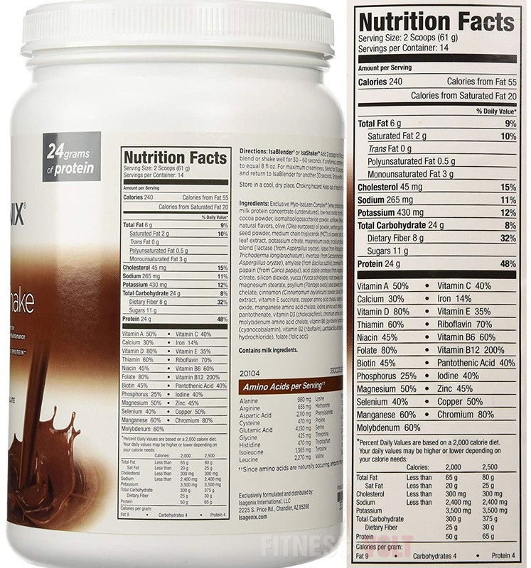 Isagenix IsaLean Shake Ingredients