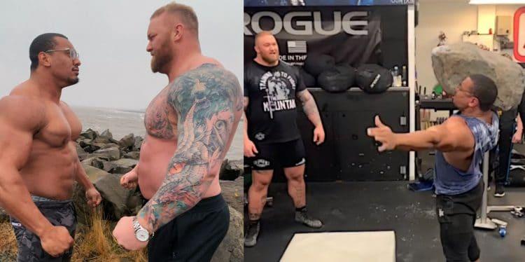 Larry Wheels combine forces with Hafthor Bjornsson