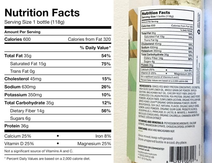 Ample Nutrition Info