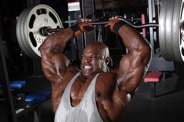 Ronnie Coleman Lying Tricep Extensions