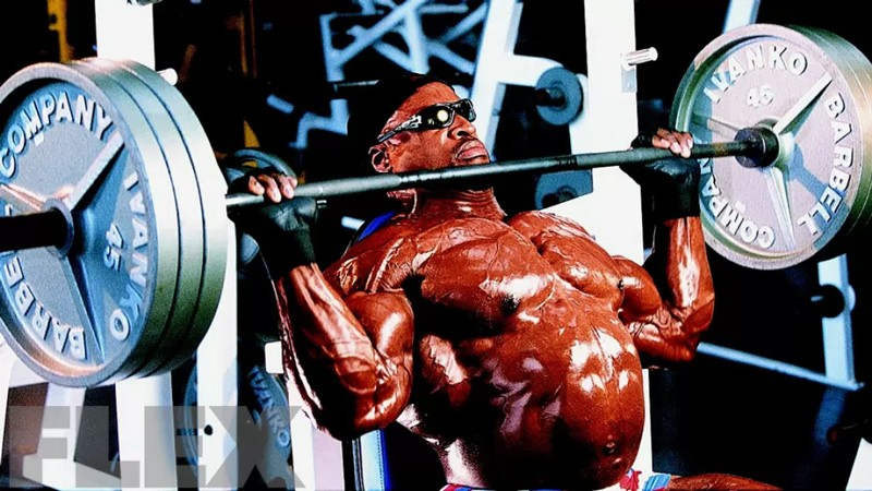 Ronnie Coleman Seated Military Press