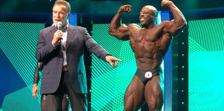 George Peterson with Arnold