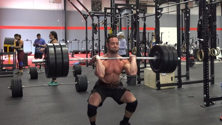 Rich Froning Fron Squatting