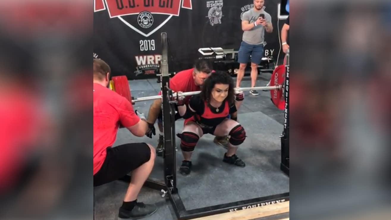 a711bfc5dc Mariana Gasparyan Squats 260kg/573 lbs And Sets 720 Wilks Score ...