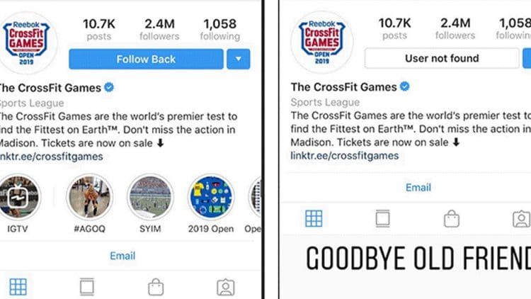 Crossfit Social Media Page Disappear